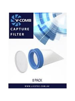 Licetec V-Comb Ricambi Filtri 8 filtri