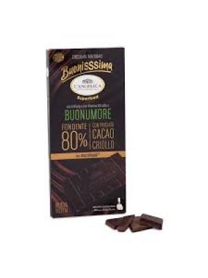 L'Angelica Buonissima Buonumore Tavoletta Cioccolato Fondente 80% 80g