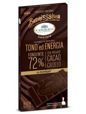 L'Angelica Buonissima Tono ed Energia Fondente 72% 80g